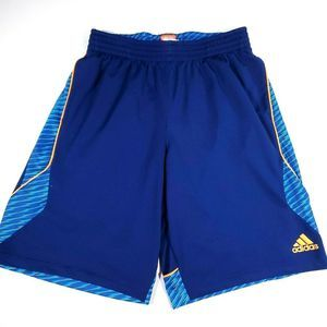 Adidas Basketball Shorts Mens L Blue Orange EUC